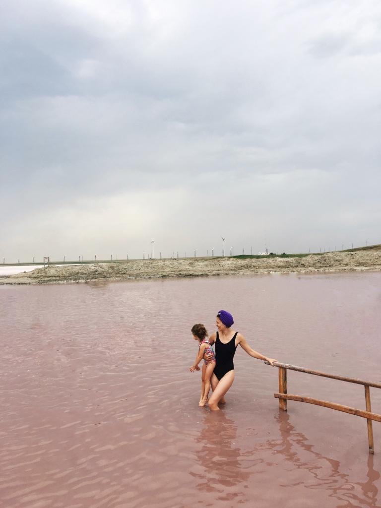 розовое озеро украина