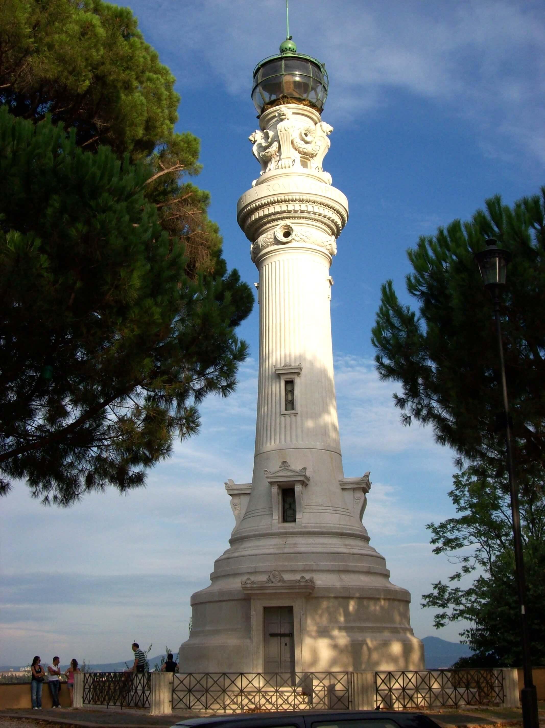 маяк Джаниколо, Трастевере, Рим