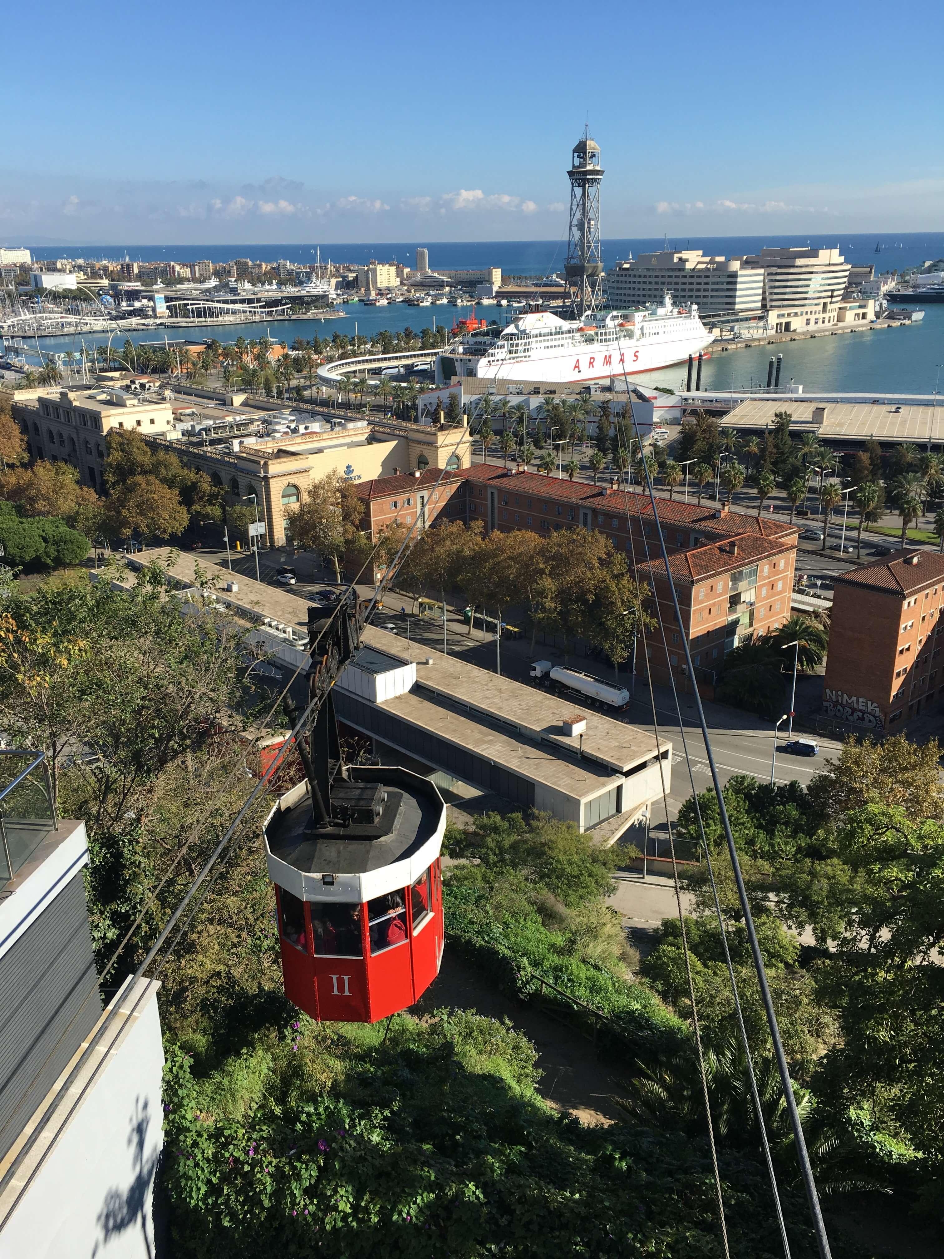 фуникулер над портом Барселоны