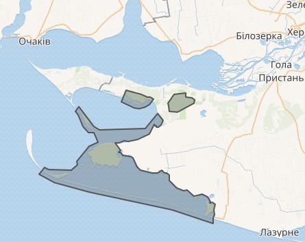 Черноморский биосферный заповедник на карте