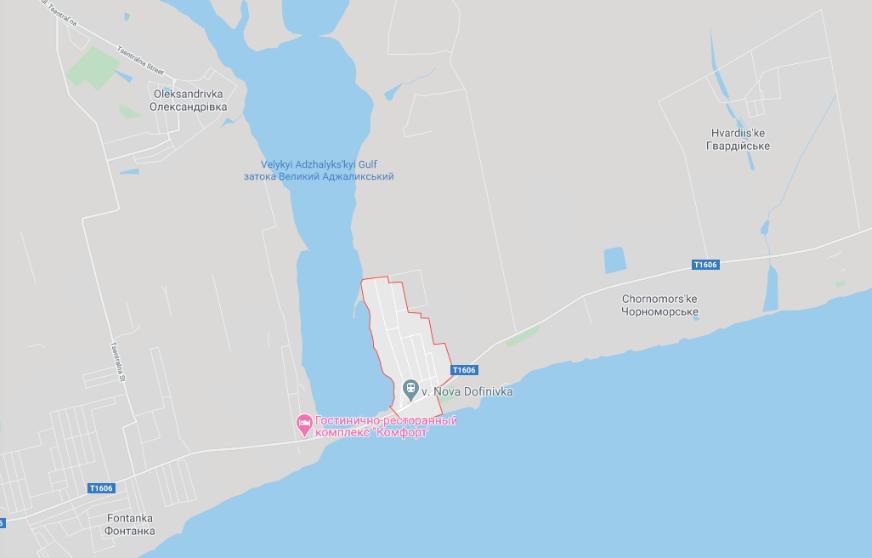 Новая Дофиновка на карте