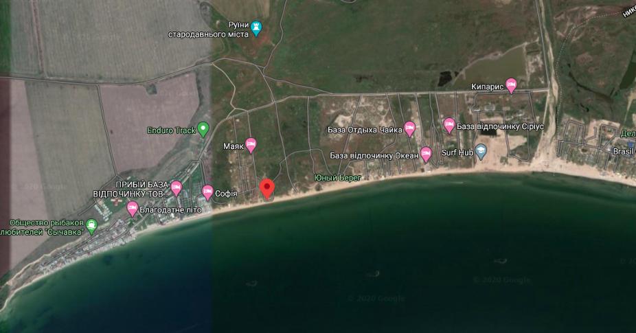 Сычавка на карте, Одесская область