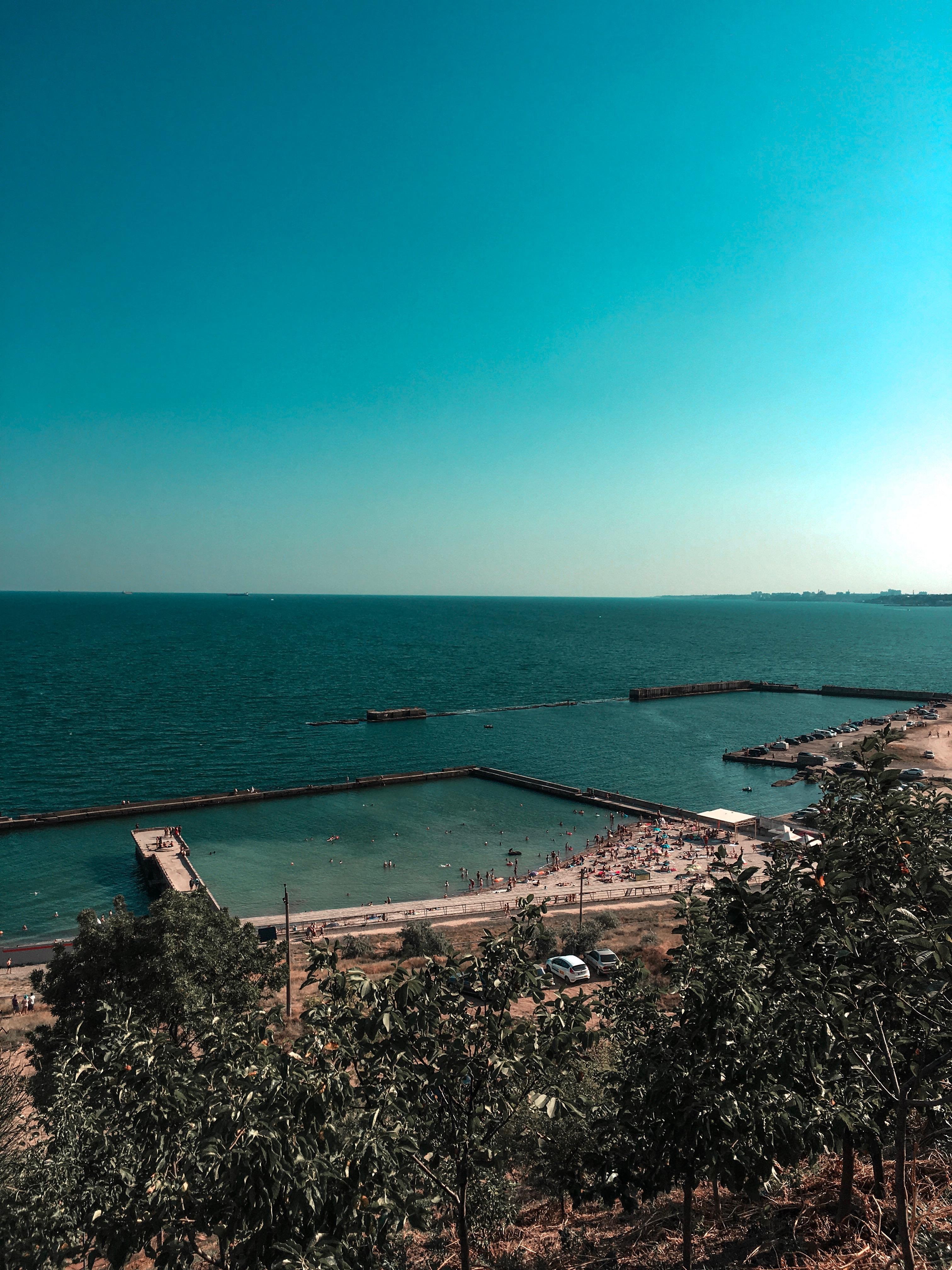 Вид на море з Одеського маяка