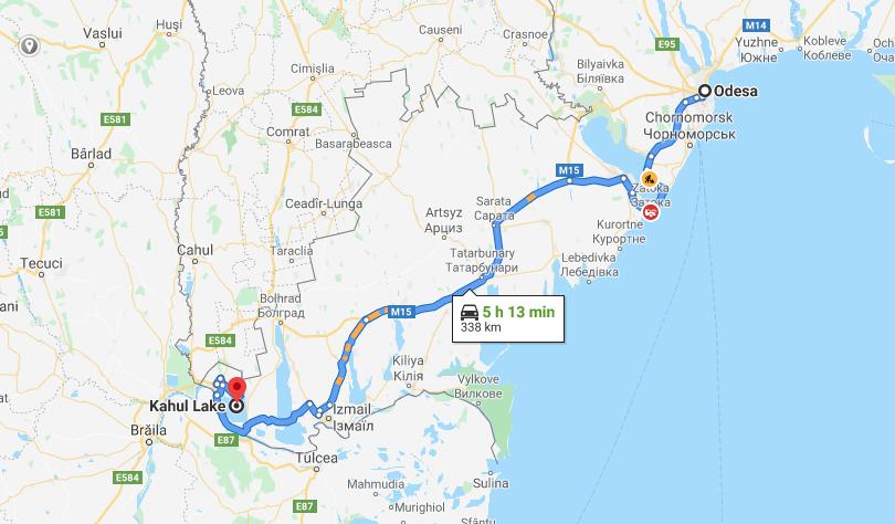 Как добраться до озера Кагул из Одессы: