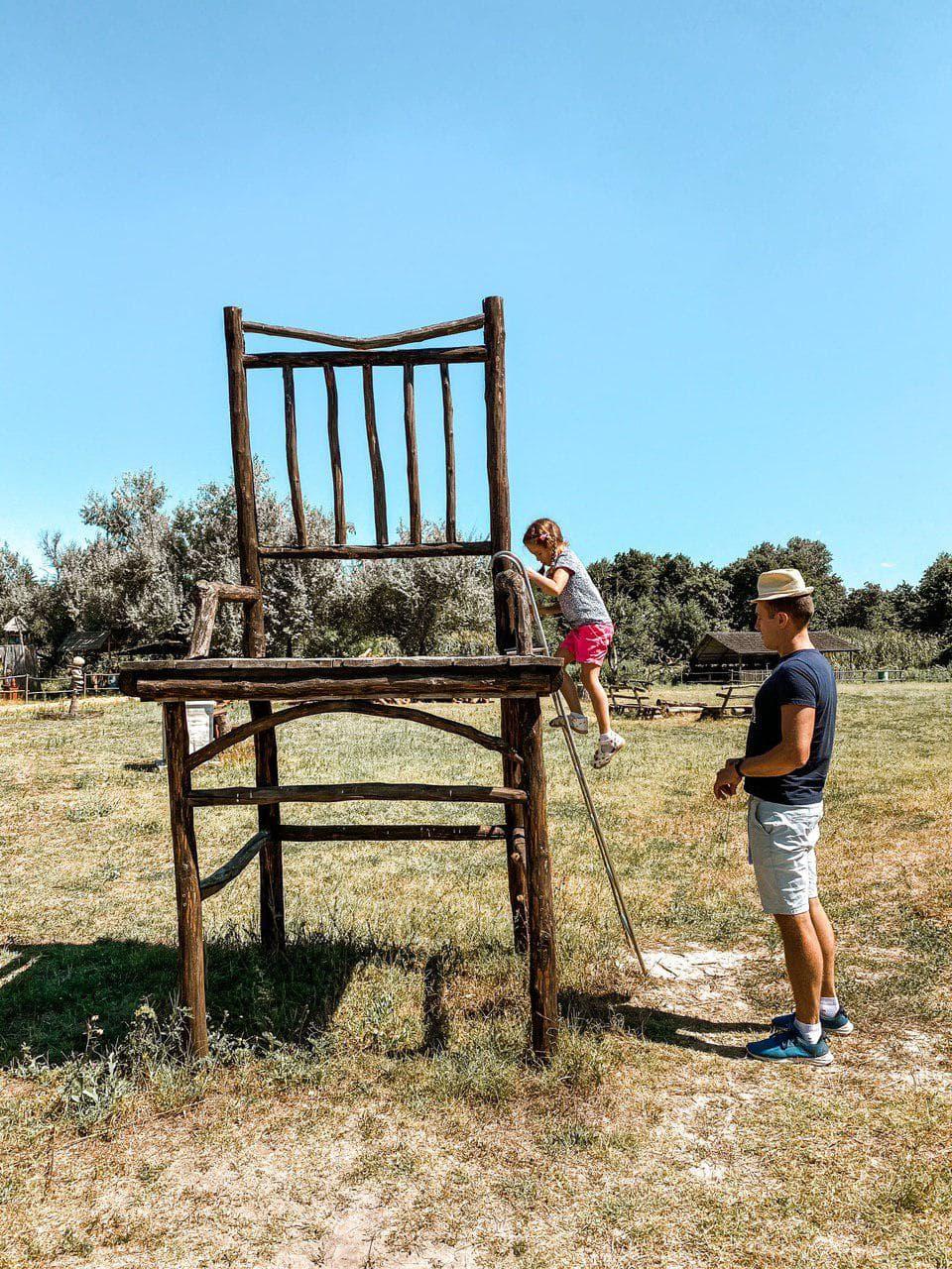большой стул в зеленых хуторах таврии.